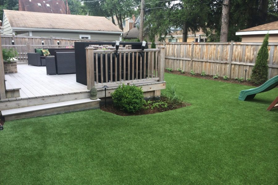 Texas artificial synthetic grass backyard